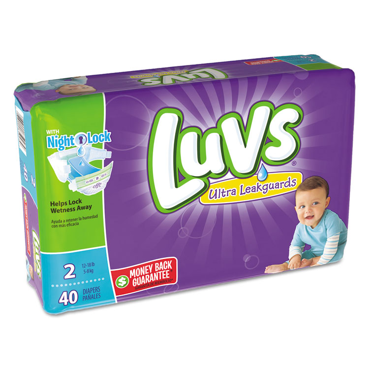 Diapers, Size 2: 12 To 18 Lbs, 40/pack, 2 Pack/carton