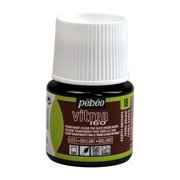 Pebeo Vitrea 160 Glass Paint, 45ml, Glossy, Earth Brown