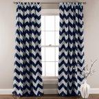 Lush Decor Stripe Blackout Window Curtain Pair Walmart Com