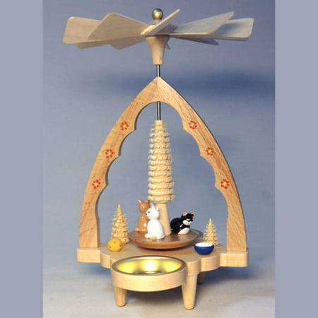 Kitten Cats German Christmas Tealight Pyramid PYR163X81