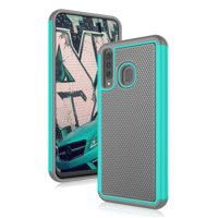 "Galaxy A20 Case, Case for Samsung A30 6.4"", Njjex Shock Absorbing Dual Layer Silicone & Plastic Bumper Rugged Grip Hard Protective Cases Cover For Galaxy A20 6.4 Inch (2019)"