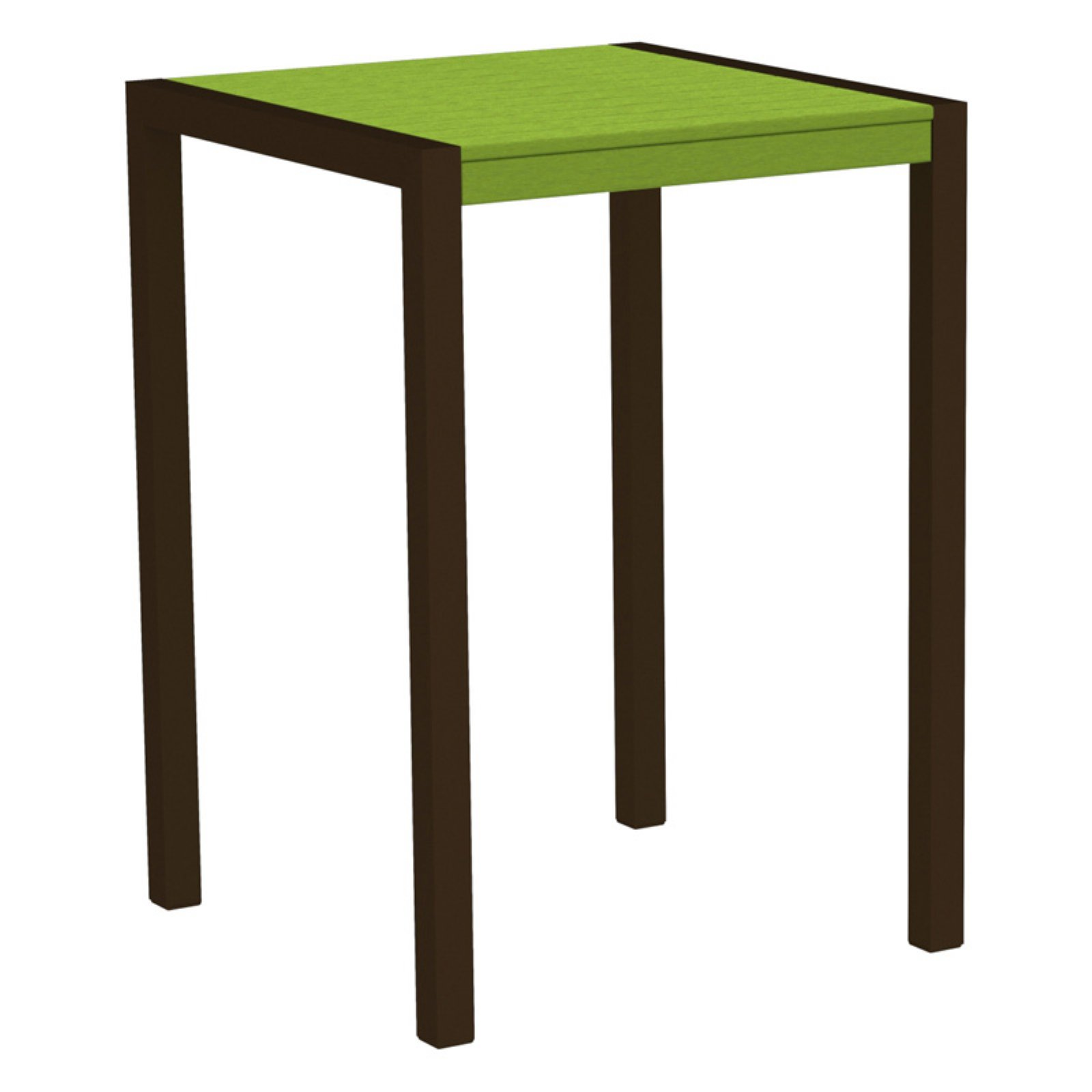 POLYWOOD® MOD 30 in. Square Bar Table with Aluminum Frame