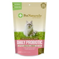 Pet Naturals of Vermont Daily Probiotic for Cats, Digestive Health Supplement, 30 Bite-Sized Chews