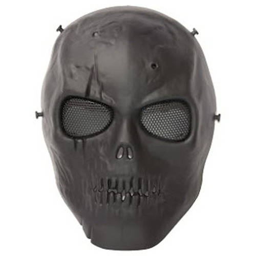 ALEKO PBSSM19BK Skull Skeleton Mask With Wire Mesh Goggles Paintball Protective Safety Mask, Black by ALEKO