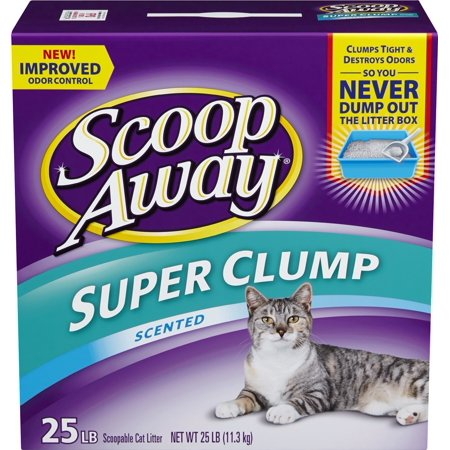 Super Clump With Ammonia Shield  Scented Cat Litter  25 Pounds 25 Pound  Ship From Usa  Brand Scoop Away