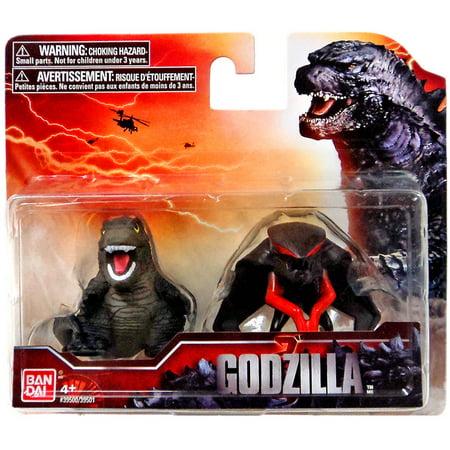 Godzilla 2014 Chibi Godzilla Male Muto Mini Figure 2 Pack
