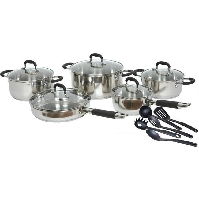 American Trading House Sc-Ss048 Gourmet Chef 15 Piece Stainless Steel Cookware Set
