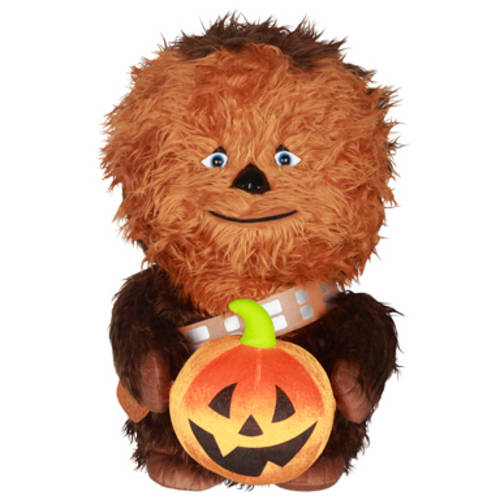2' Halloween Greeter Star Wars Chewbacca Holding Pumpkin
