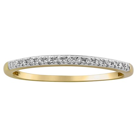 10kt Yellow Gold Diamond Accent Anniversary Band Ring - Golden Ring Walmart