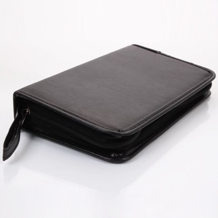 New 80 Dic Cd Holder Dvd Case Storage Wallet Vcd Oranganizer Black Leather Bag
