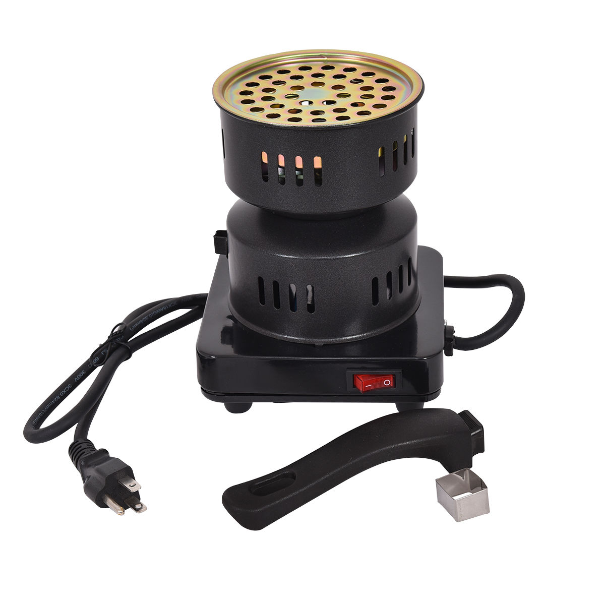 Gymax Electric Coal Starter Hookah Shisha Nargila Heater Stove Charcoal Burner BBQ