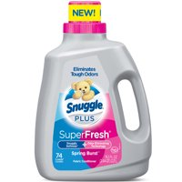 Snuggle Plus Super Fresh Liquid Fabric Softener, Spring Burst, 78.3 Fluid Ounces, 74 Loads