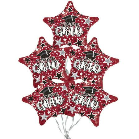 Star Magic Halloween Party 2019 (Graduation Congrats Grad Star Burgundy 18 Inch Mylar Balloon (1/Pkg))