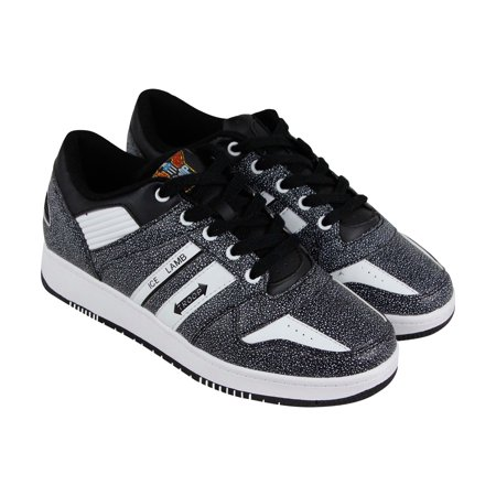 World Of Troop Ice Lamb Mens Black Leather Low Top Lace Up Sneakers (Top 10 Best Shoes In The World)