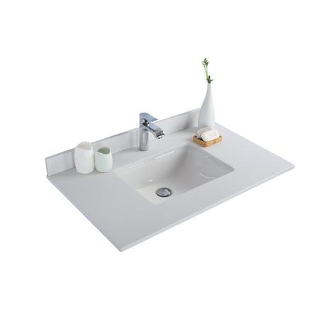 White Quartz Countertop - 36