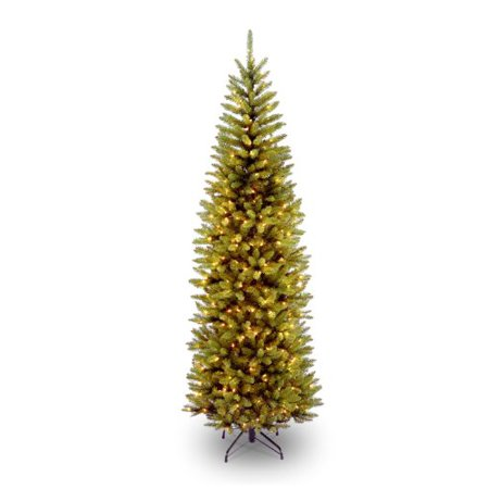 National Tree Kingswood(R) Fir Pencil Tree with Clear Lights-Size:7.5 ft
