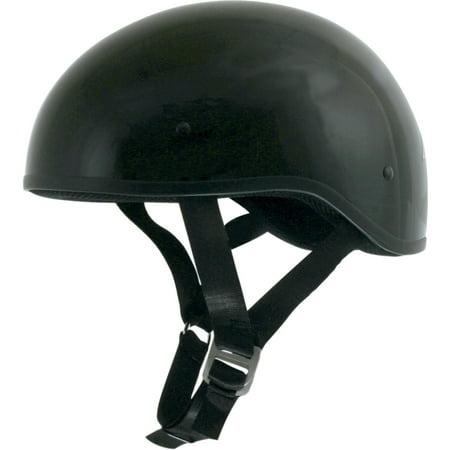 AFX FX-200 SLICK BEANIE-STYLE HALF HELMET Half Helmet (Solid Black Gloss, 2X-Large)