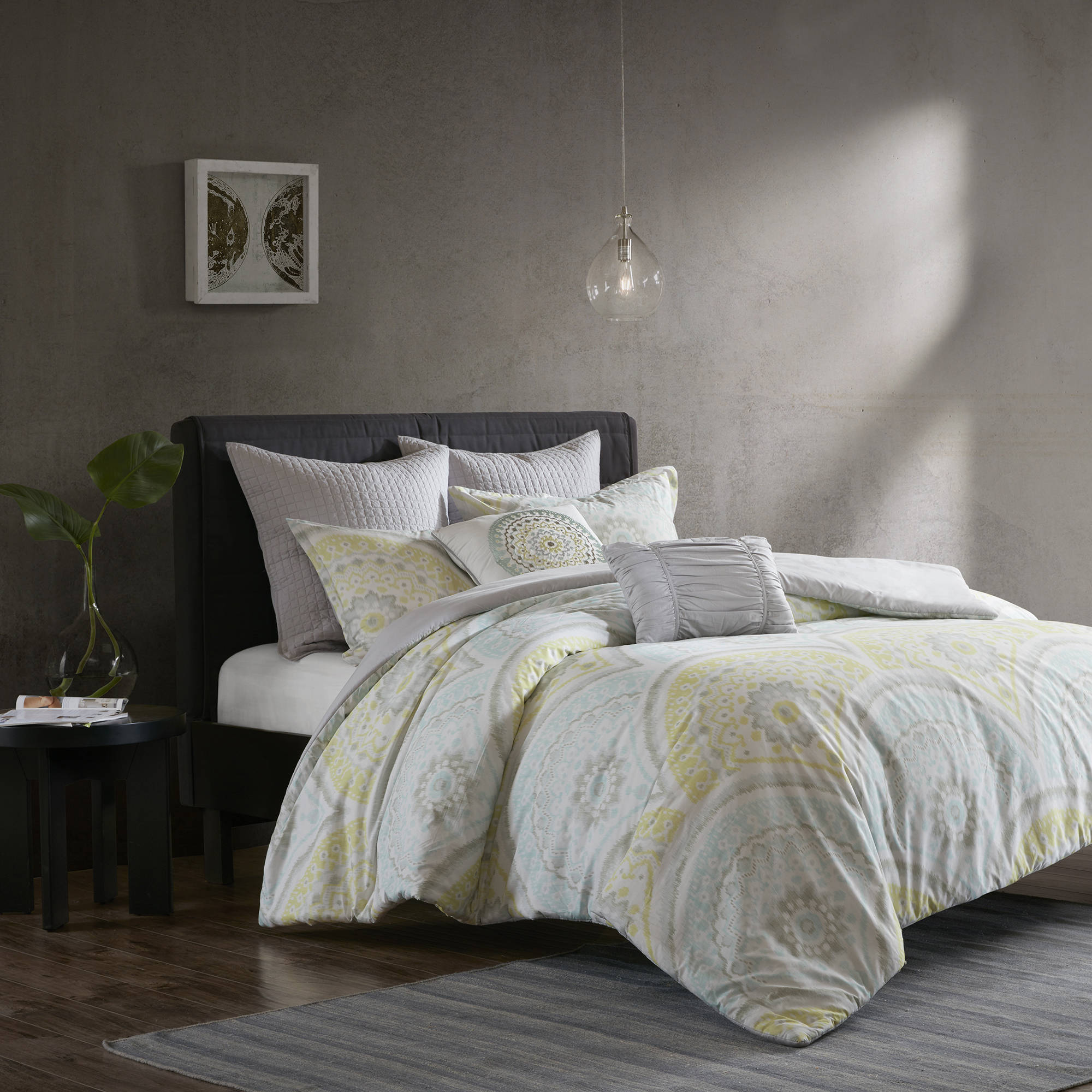 Home Essence Apartment Leyla 7 Piece Cotton Duvet Cover Set