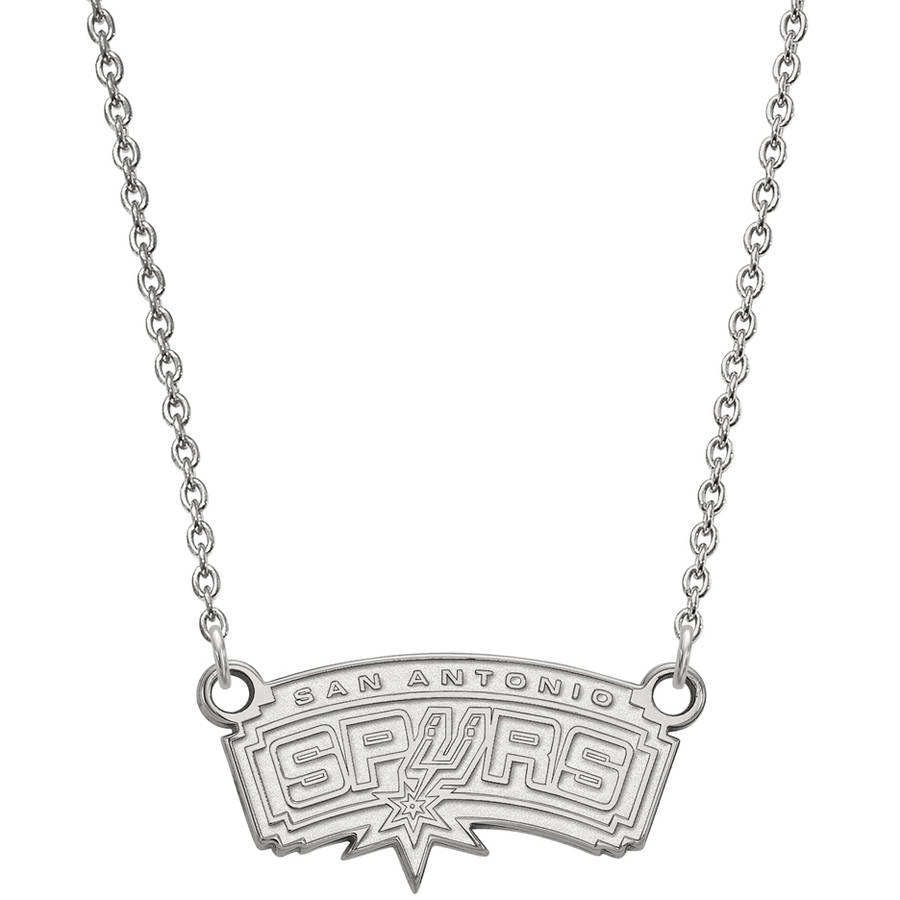 LogoArt NBA San Antonio Spurs Sterling Silver Small Pendant with Necklace