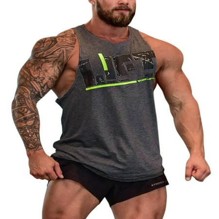 - Mens Cotton Bodybuilding Stringer Tank Tops