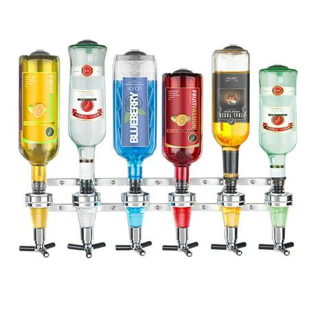 wall bracket 6-station liquor dispenser bar butler/wine dispenser