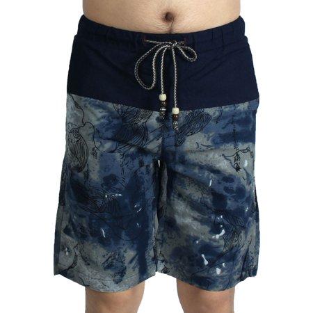 Men Outdoor Summer Linen Beach Surfing Swimming Shorts Casual Swim Trunks Swimwear #1