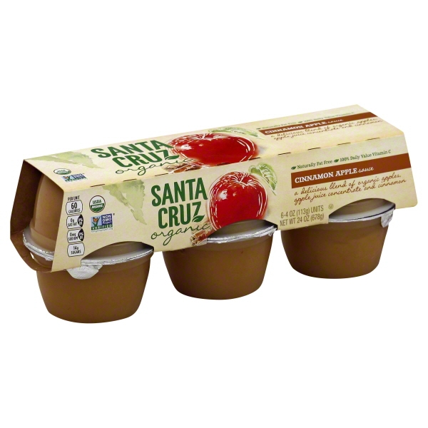 JM Smucker Santa Cruz Organic Apple Sauce, 6 ea