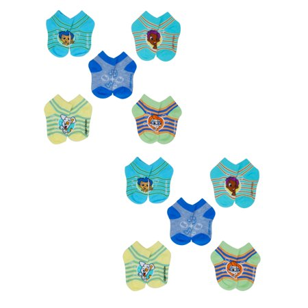 10 Pairs Toddler Bubble Guppies Ankle Socks  Size 5-6 - Gil Bubble Guppies