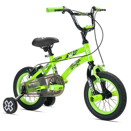 X Games 12 Bmx Boy S Bicycle Green For Height Sizes 2 0 And Up