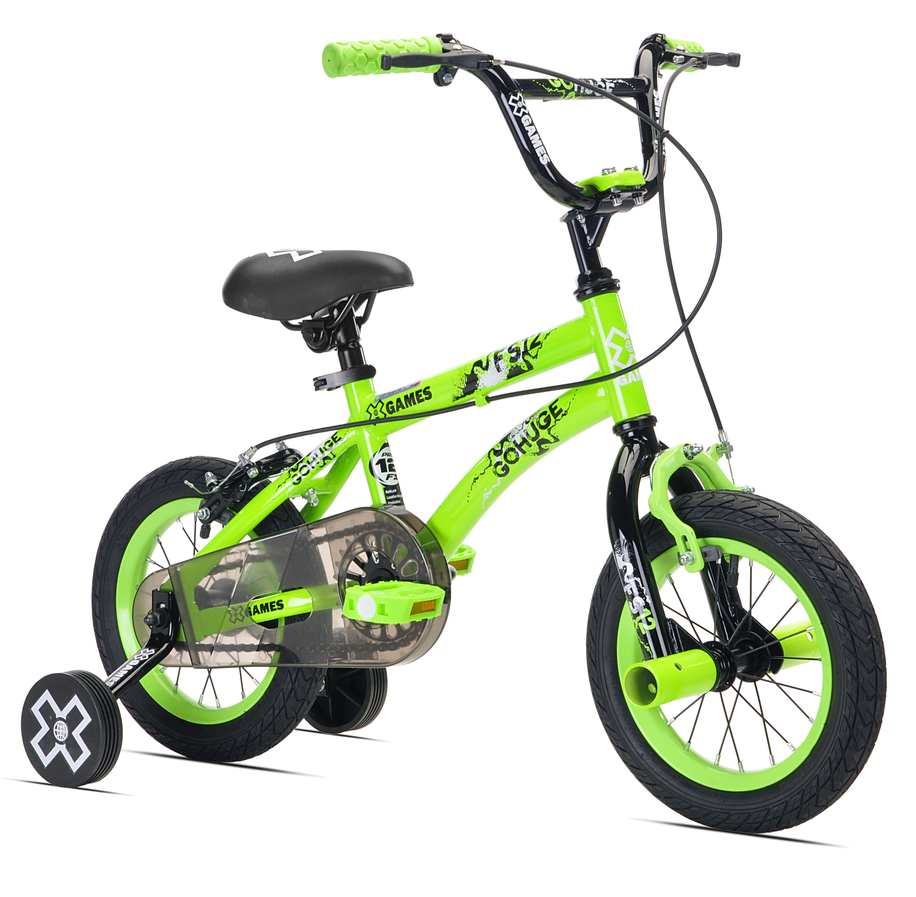 "X-Games 12"" Boys', BMX Bicycle, Green, For Ages 2-5"