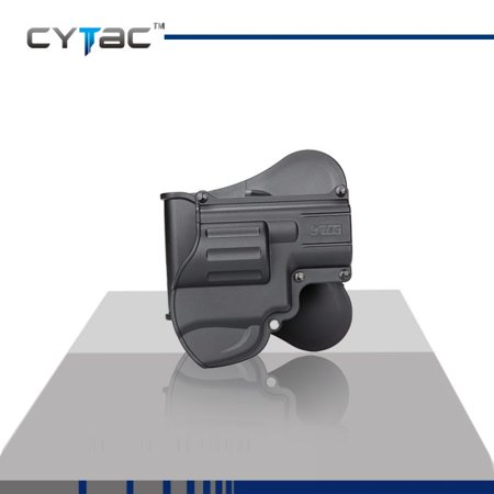 CYTAC S&W Paddle Holster with Trigger Release 360 degree Adjustable Cant, Polymer Holster Injection Molded for S&W J-Frame Snub Nose Revolver OWB Carry, RH | 7 attachment