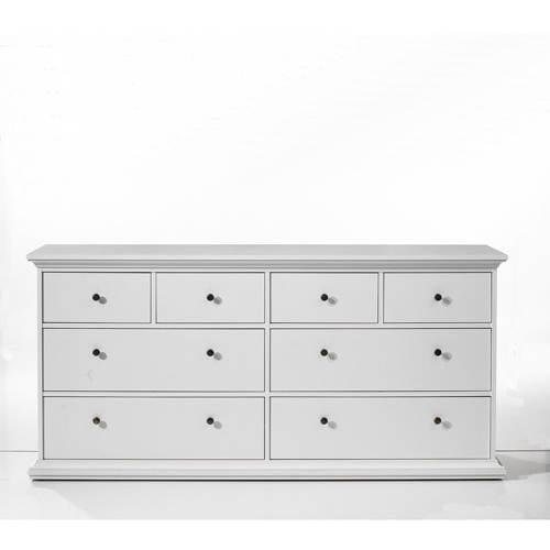 Maison Park Double 8 Drawer Dresser White