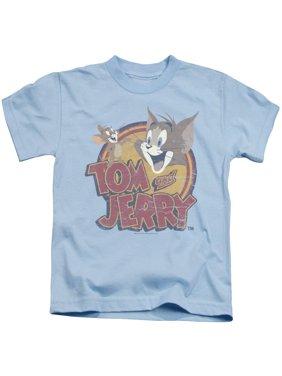 Tom And Jerry - Water Damaged - Juvenile Short Sleeve Shirt - 5/6