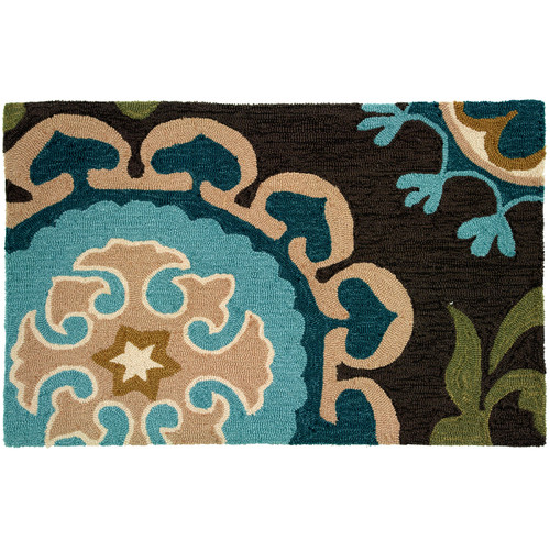 Homefires Floral and Garden Suzanni Blue Rug