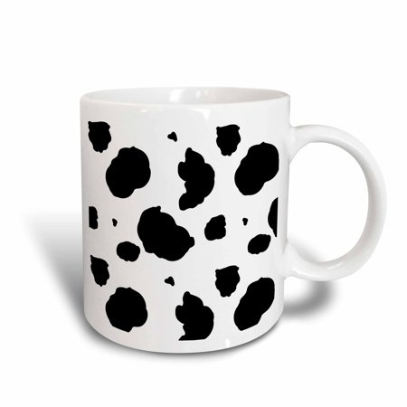 3dRose Black and White Cow Print, Ceramic Mug, 11-ounce - Cow Print Cups
