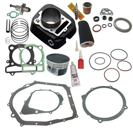 Top Notch Parts Yamaha Big Bear 350 Cylinder Piston Gasket Air Oil Filter Top End Kit Set 2x4 4x4 (Kit Top End Set)