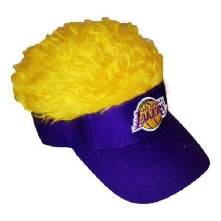 NBA Los Angeles Lakers Flair Hair Visor, One Size, - Hair Visors