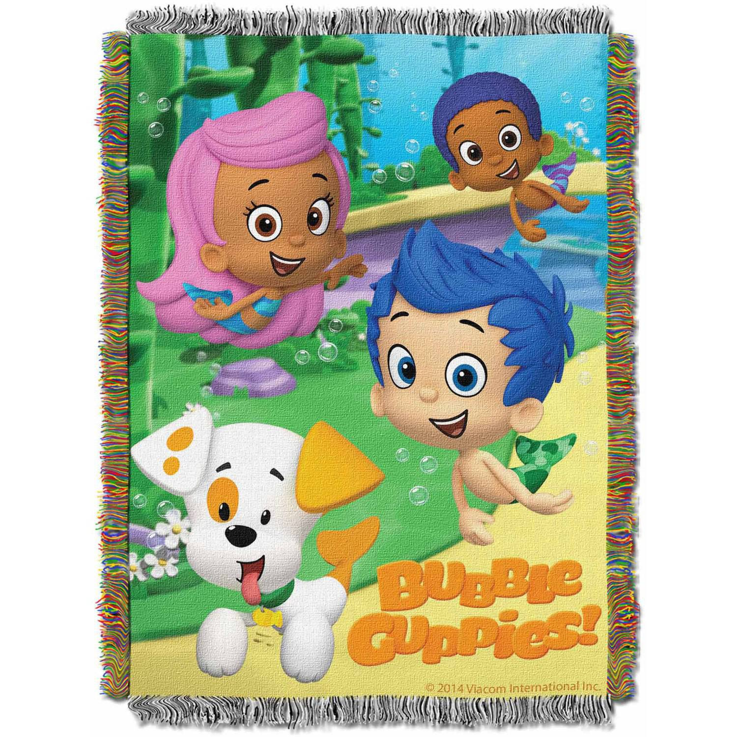Northwest 1NBG-05100-0001-RET Bubble Guppies Guppy Fun Woven Tapestry Throw, 48 x 60 in.