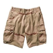 Desert Camo Vintage Paratrooper Style Cargo Shorts