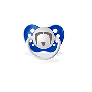 Personalized Pacifiers The Fu Manchu Mustache - Dark Blue (Fake Fu Manchu Mustache)