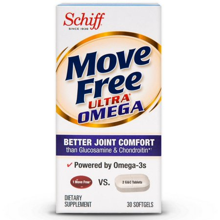 4 Pack - Move FreeUltra Omega Joint Health Supplement with Omega-3 Krill Oil and Hyaluronic Acid 30 (Best Supplements To Take For Hypothyroidism)