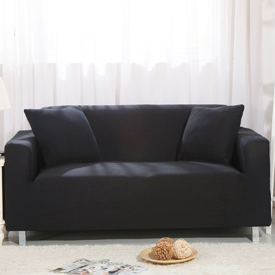 Pure Color Stretch Sofa Covers,1/2/3 Seats Fabric Chair Loveseat Sofa Couch  Settee Protector,Black