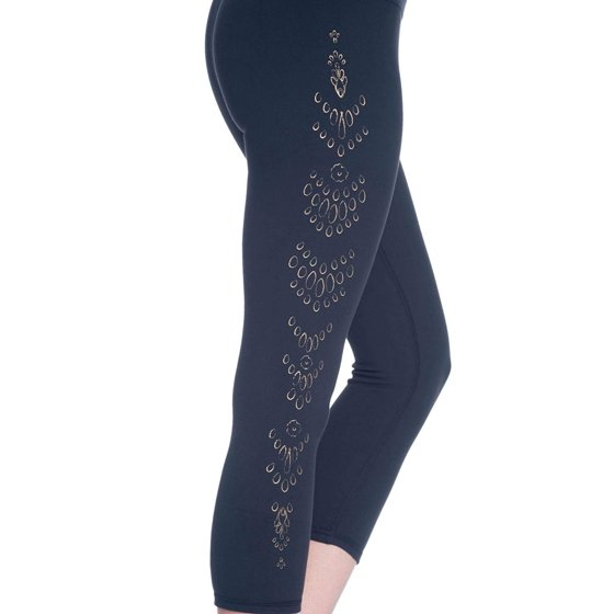 9d2e1e334f Gaiam Women's Om High Rise Yoga Capri Performance Spandex Compression  Legging - Black Tap Shoe, X-Small - Walmart.com