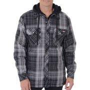 Men's Plaid Hoodie Shirt Jacket