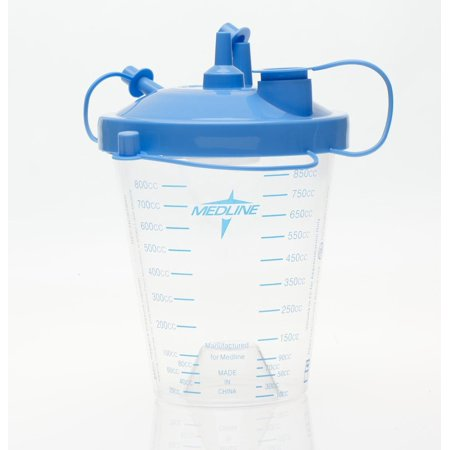 Suction Canister with Float Lid & Tubing, 850 cc By Medline Industries Inc Ship from (Medline Industries Cart)