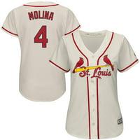 Yadier Molina St. Louis Cardinals Majestic Women's Alternate Cool Base Player Jersey - Ivory