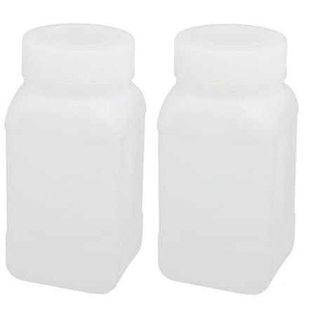 250ml HDPE Plastic Rectangle Shape Laboratory Storage Bottle