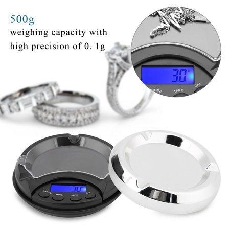 347dab9f7b48 HURRISE 500g/0.1g Mini Portable Ashtray Electronic Digital Jewelry ...