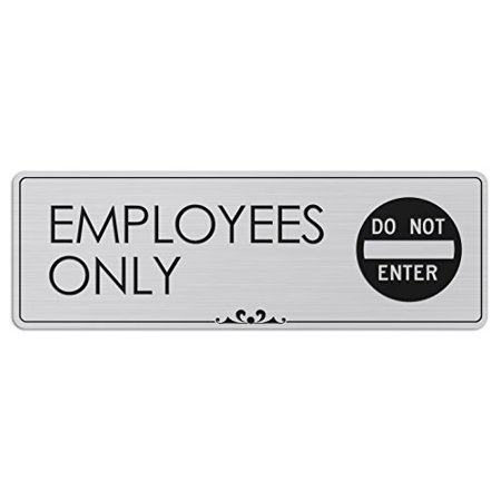 Employees Only - Laser Engraved Sign - 3