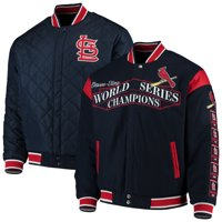 St. Louis Cardinals JH Design Wool Reversible Full-Snap Jacket - Navy